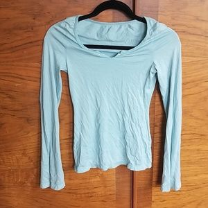 Used XS Light Blue AG Bell Long Sleeve Top